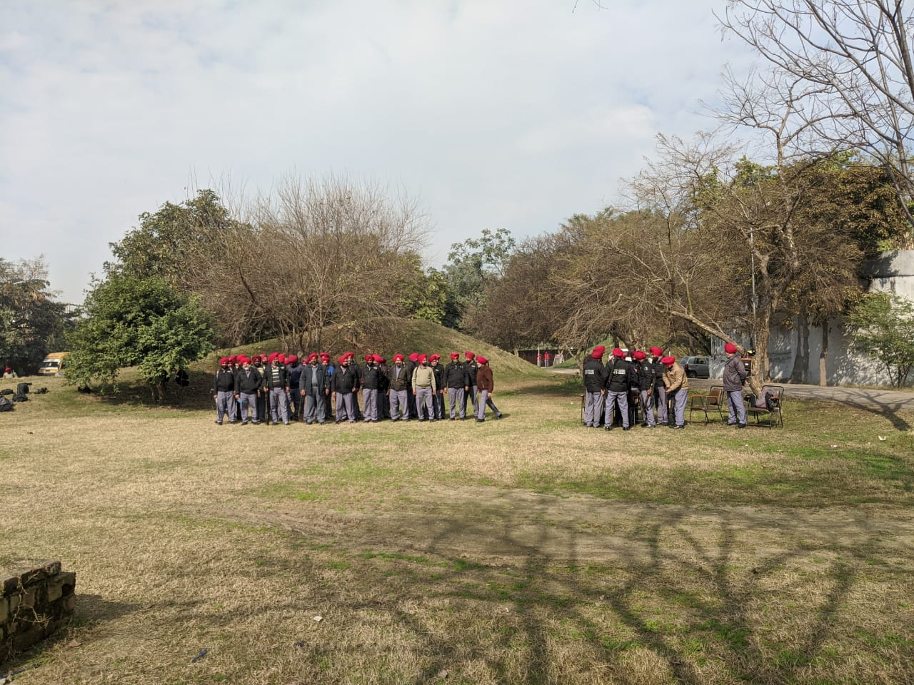 Fire arms training of guards 2